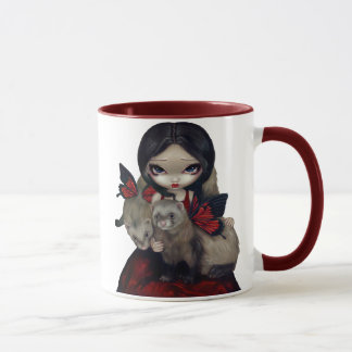 """Red Butterfly Ferrets"" Mug"