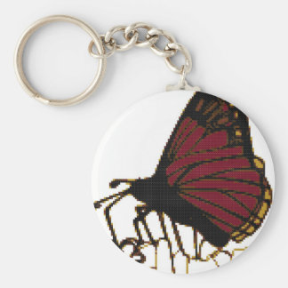 red butterfly key ring