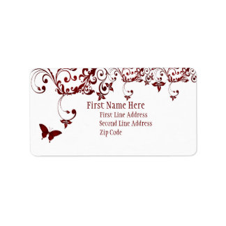 Red Butterfly Label