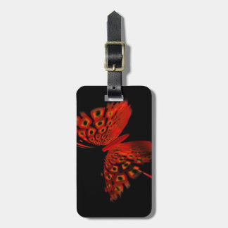 Red Butterfly Luggage Tag