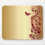 Red Butterfly Mouse Pads