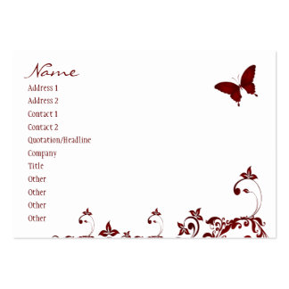 Red Butterfly Pack Of Chubby Business Cards