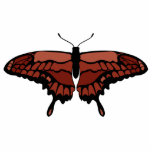 Red Butterfly Photo Sculpture