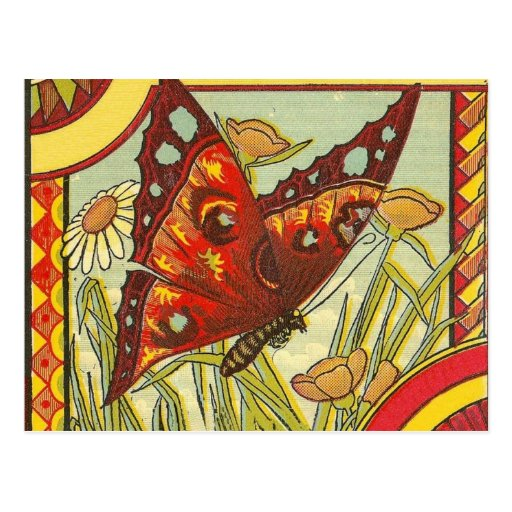 Red Butterfly - Postcard