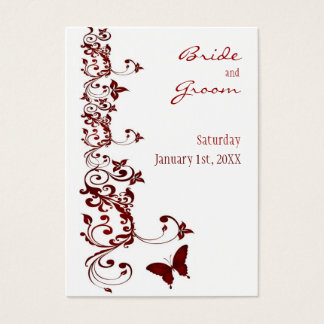 Red Butterfly Save the Date for Weddings