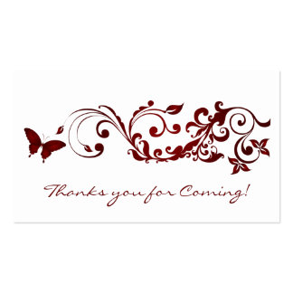 Red Butterfly, Thanks you Cards for Wedding Pack Of Standard Business Cards