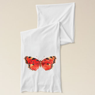 Red butterfly White Jersey Scarf