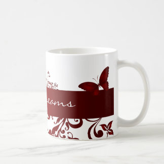 Red Butterfly with Caption Coffee Mugs