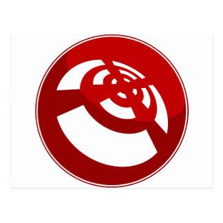 Red Button Wireless Signal Postcard