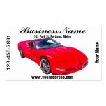 Red C5 Corvette convertible Muscle Car Business Card Template