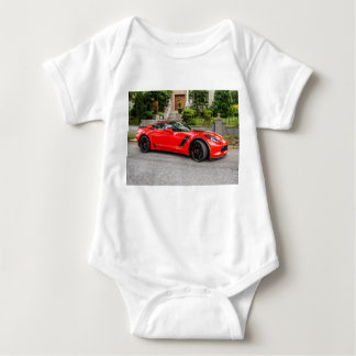 Red C7 Chevrolet Corvette Baby Bodysuit