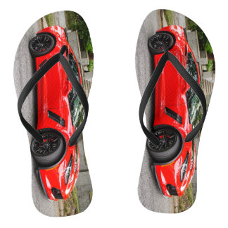 Red C7 Chevrolet Corvette Flip Flops