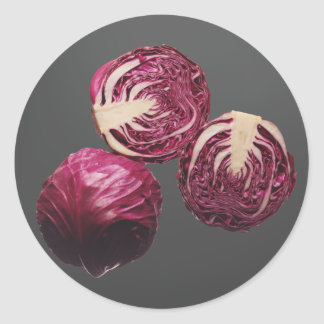 Red Cabbage Round Sticker