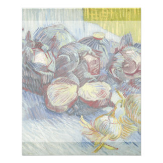 Red Cabbages and Onions by Vincent Van Gogh 11.5 Cm X 14 Cm Flyer