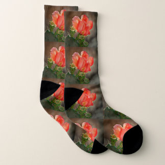 Red Cactus Bloom Socks