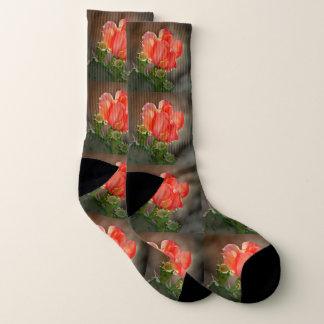 Red Cactus Bloom Socks 1