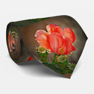 Red Cactus Bloom Tie