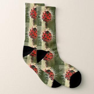 Red Cactus Bulb Unisex Socks 1
