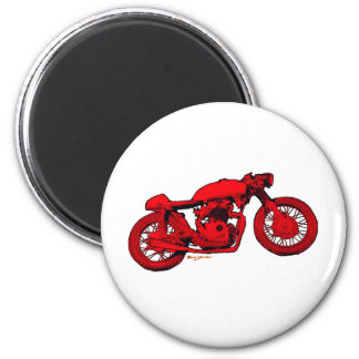 Red Cafe Racer Magnet