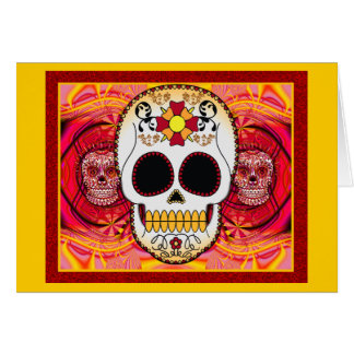 Red Calaveras Card