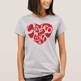 Red California Heart T-Shirt