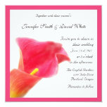 Red Calla Lily Wedding Invitation 13 Cm X 13 Cm Square Invitation Card