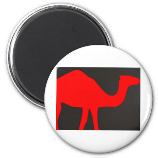 red camel 6 cm round magnet