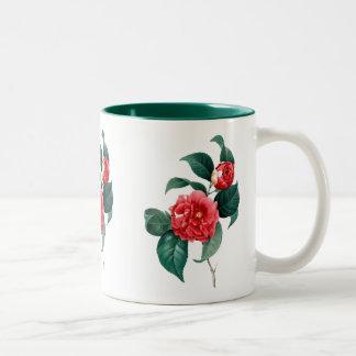 Red Camellia Botanical Classic Ceramic Mug