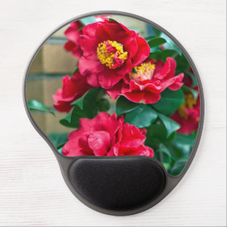Red Camellia Gel Mouse Mat