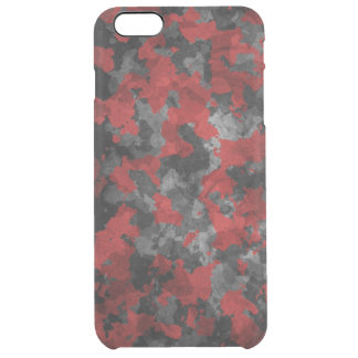 Red camo clear iPhone 6 plus case