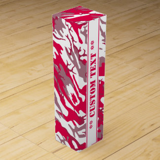 Red Camo w/ Custom Text Wine Box