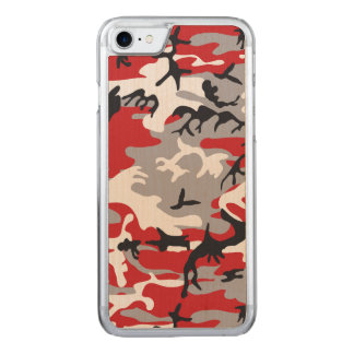 Red Camouflage Carved iPhone 8/7 Case