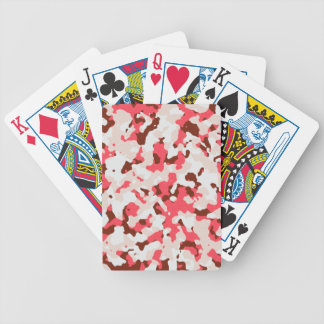 Red camouflage pattern bicycle playing cards