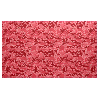 Red Camouflage Pattern Fabric