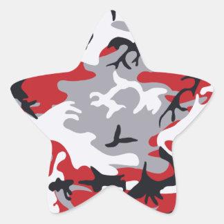 Red Camouflage Sticker
