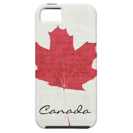red Canadian maple leaf iPhone 5 Cover