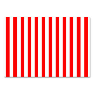 Red Candy Cane Stripes Table Card