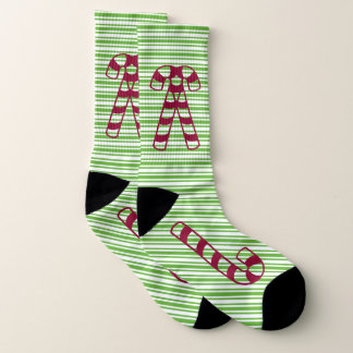 Red Candy Canes and Green Stripes Ugly Christmas 1