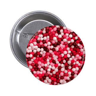 Red Candy Sprinkles 6 Cm Round Badge