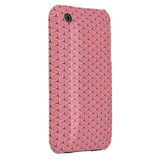 Red Candy Swirls iPhone 3 Case-Mate Cases