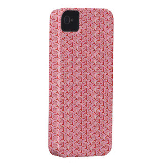 Red Candy Swirls iPhone 4 Case