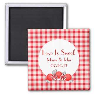 Red Candy Wedding Favor Magnet