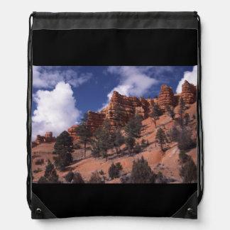 Red Canyon Drawstring Bags