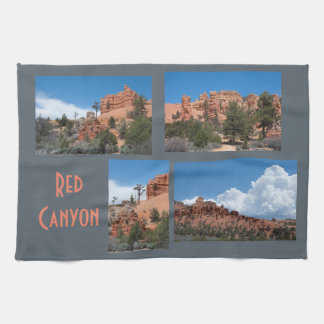Red Canyon Utah Photo Template Kitchen Towels