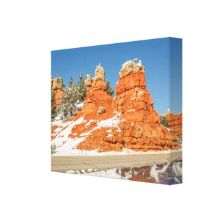 Red Canyon, Utah Reflection Stretched Canvas Print