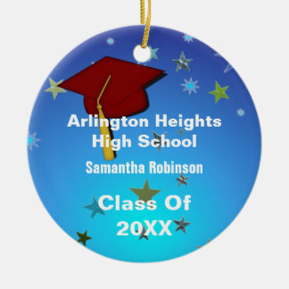 Red Cap and Stars Graduation Ornament