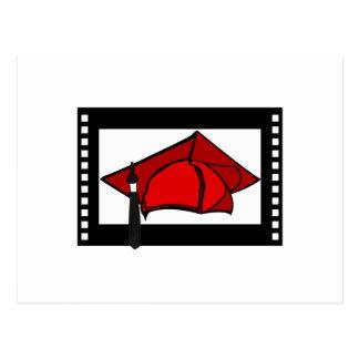 Red Cap Black Tassel Postcard