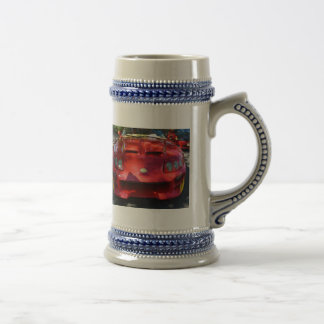 Red Car in Dappled Sunshine Coffee Mug