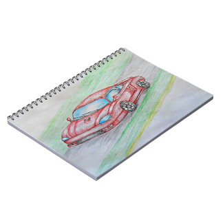 red car notebook