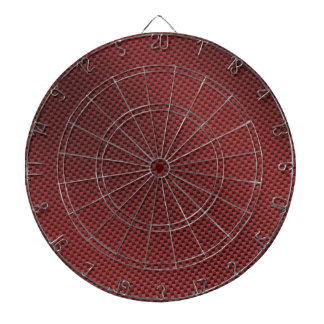 Red Carbon Fiber Patterned Dartboard